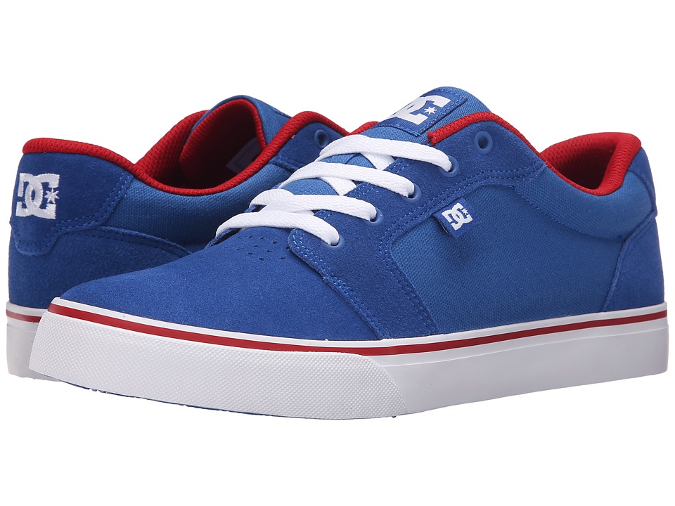 DC - Anvil (Blue/Red/White) Men's Skate Shoes