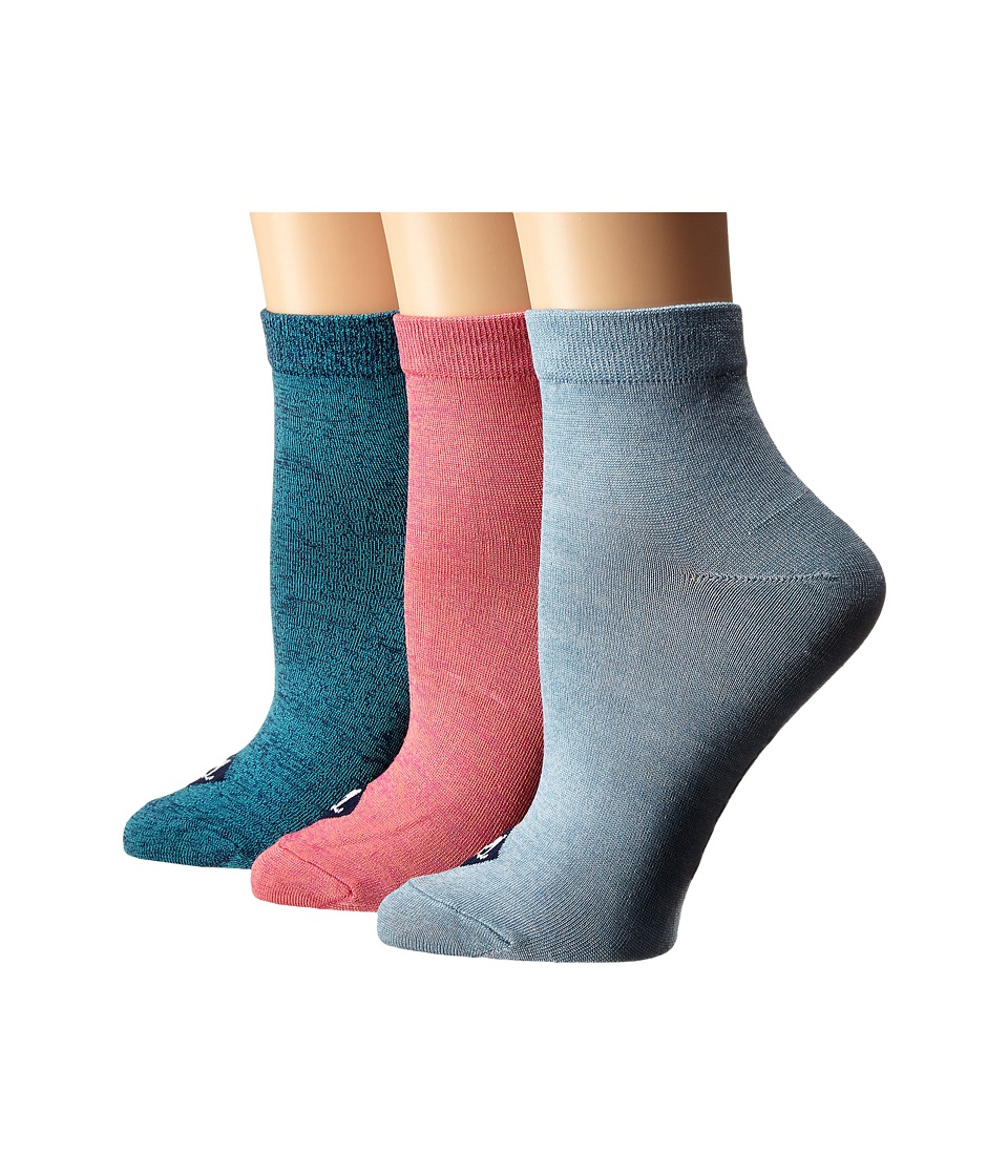Sperry - Anklets 3-pack (Ceramic Blue/Patriot Blue Assorted) Women's Low Cut Socks Shoes