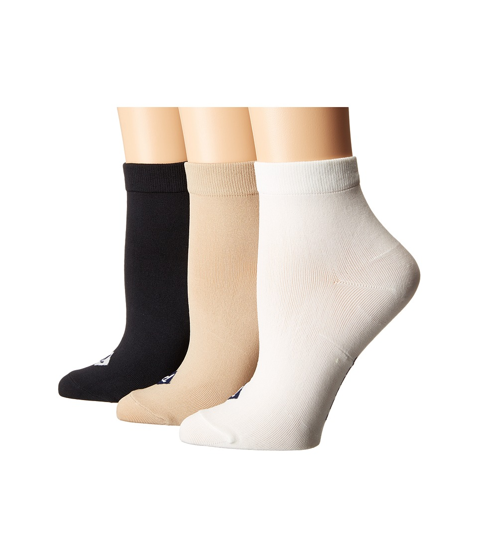 Sperry - Anklets 3-pack (Black Assorted) Women's Low Cut Socks Shoes