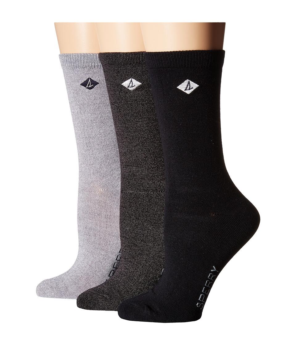 Sperry - Crews 3-pack (White/Sliver) Women's Crew Cut Socks Shoes