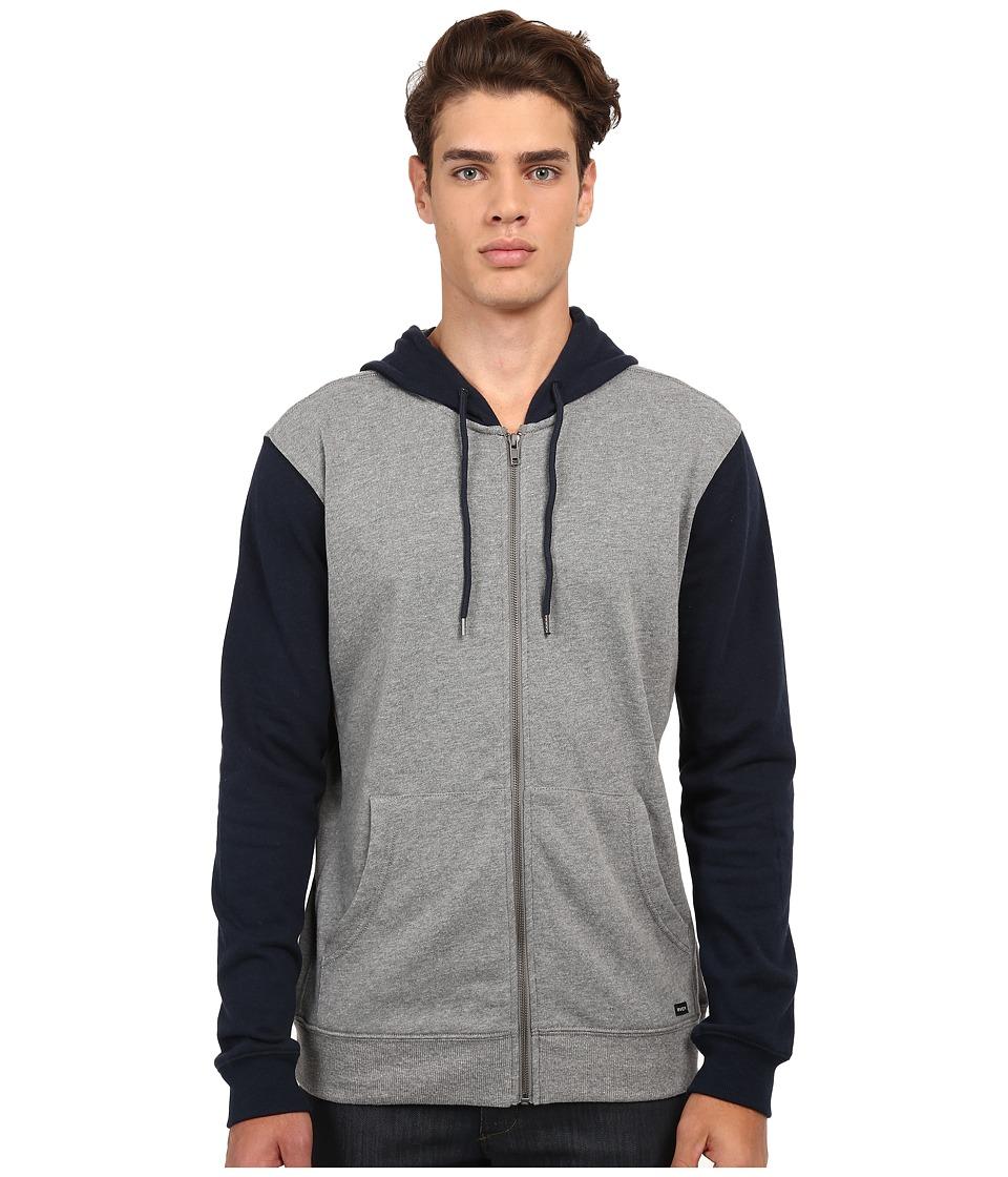 RVCA - Crucial II Zip Hoodie (Carbon) Men's Sweatshirt