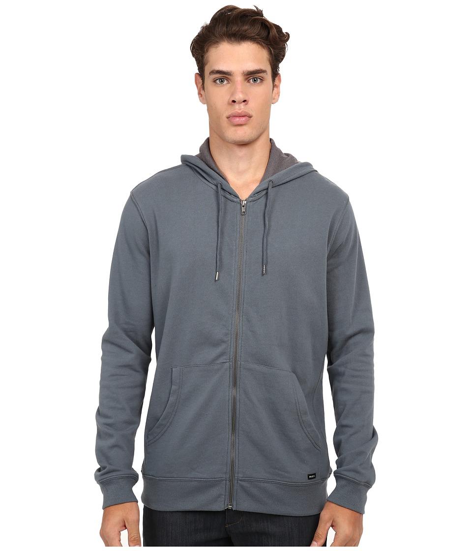 RVCA - Crucial II Zip Hoodie (Stormy Blue) Men's Sweatshirt
