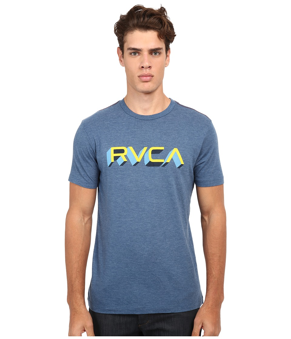 RVCA - Third Dimension Vintage Dye Tee (Stellar Blue) Men