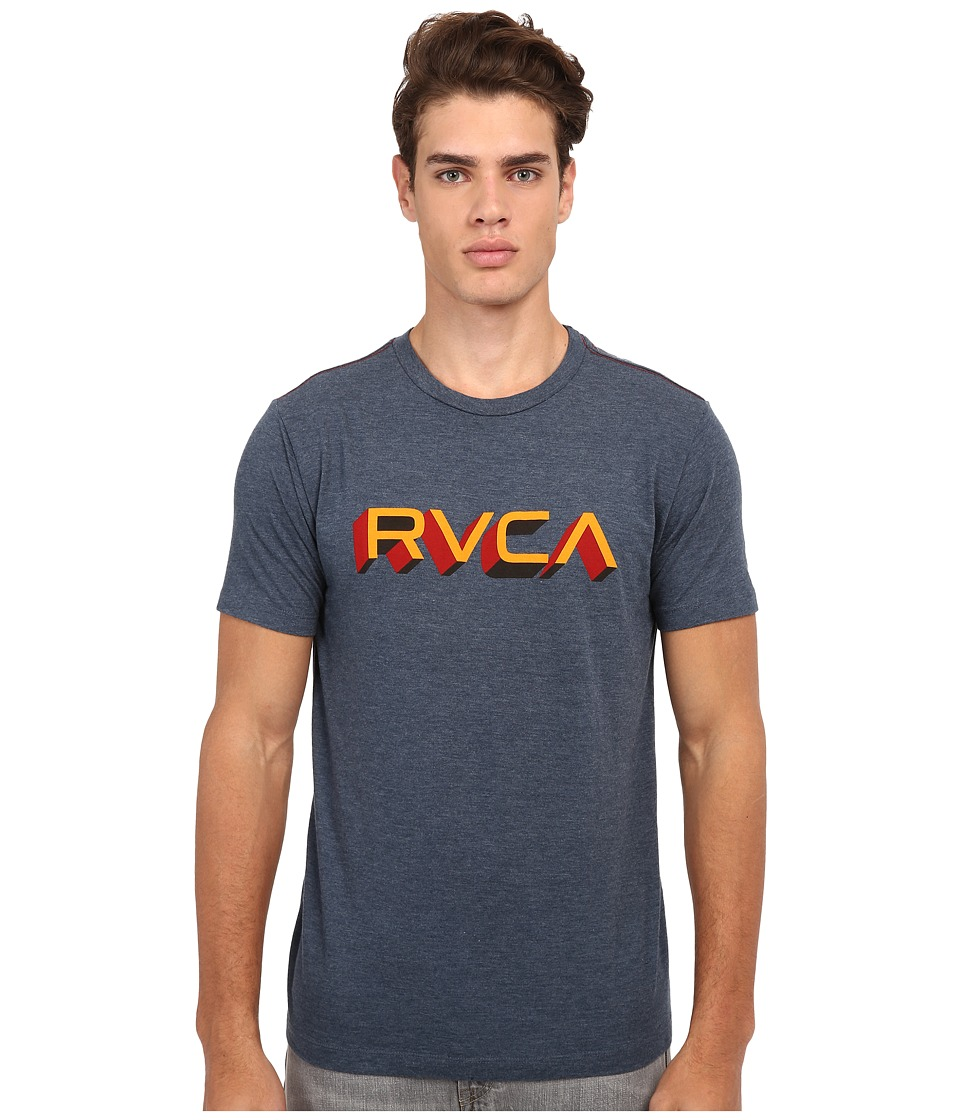 RVCA - Third Dimension Vintage Dye Tee (Midnight) Men's T Shirt