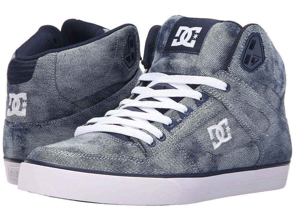 DC - Spartan High WC TX SE (Indigo) Men's Skate Shoes