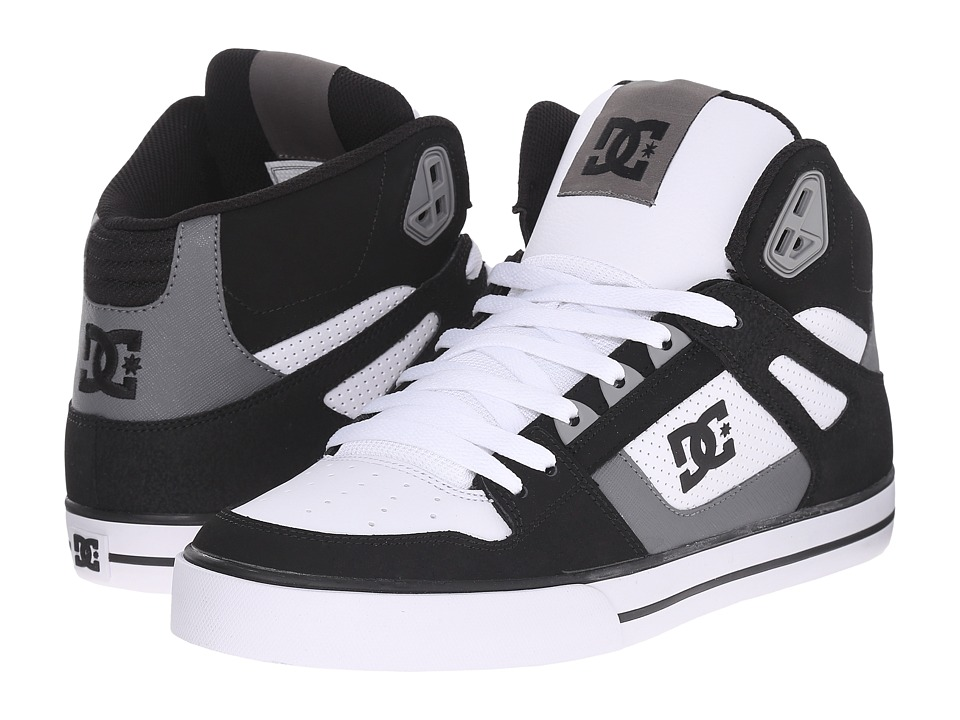DC - Spartan Hi WC (Black/Grey/White) Men's Skate Shoes