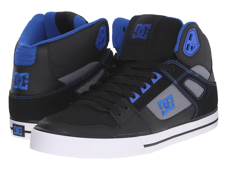 DC - Spartan Hi WC (Black/Blue/Grey) Men's Skate Shoes