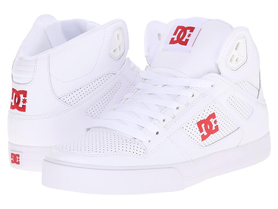 DC Spartan Hi WC (White/Red) Men