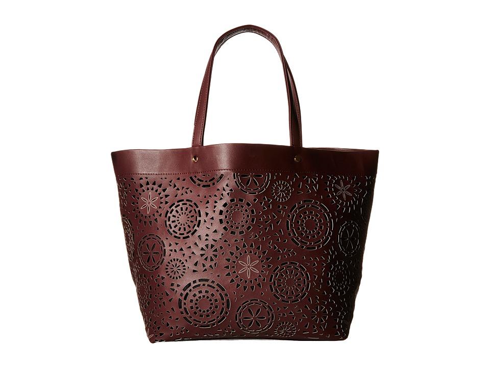 Deux Lux - Aztec Tote (Burgundy) Tote Handbags