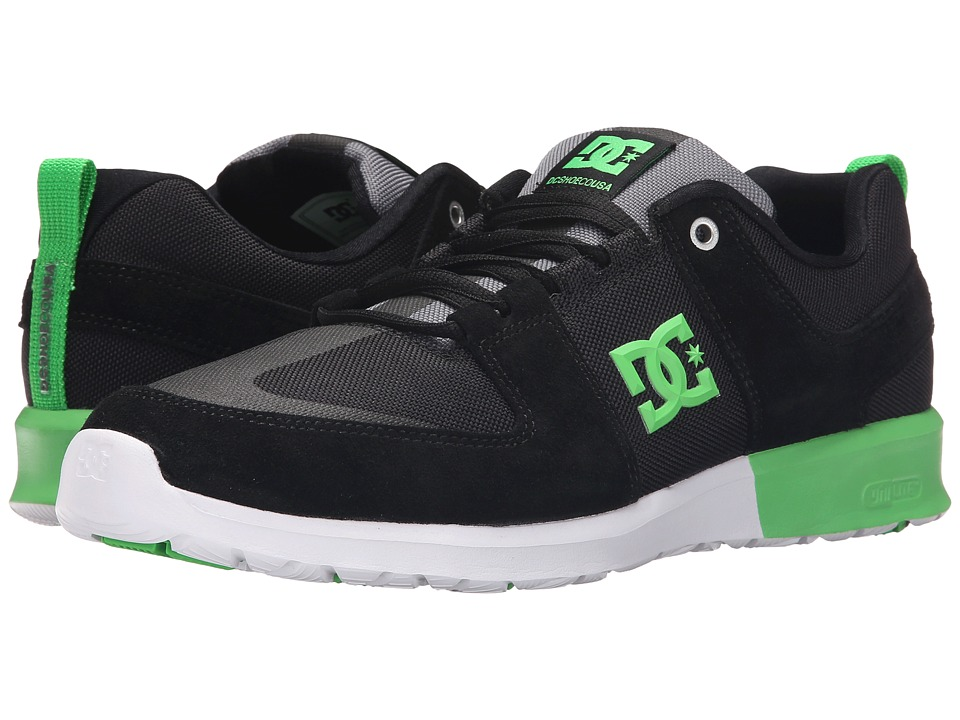 DC - Lynx Lite (Black/Grey/Green) Skate Shoes