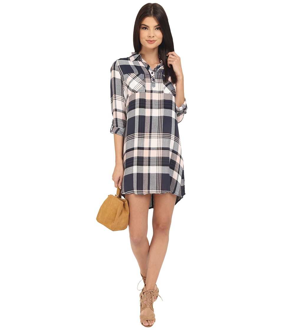 Jack by BB Dakota - Midge Drapy Soft Hand Plaid Shirtdress (Rose Smoke) Women's Dress