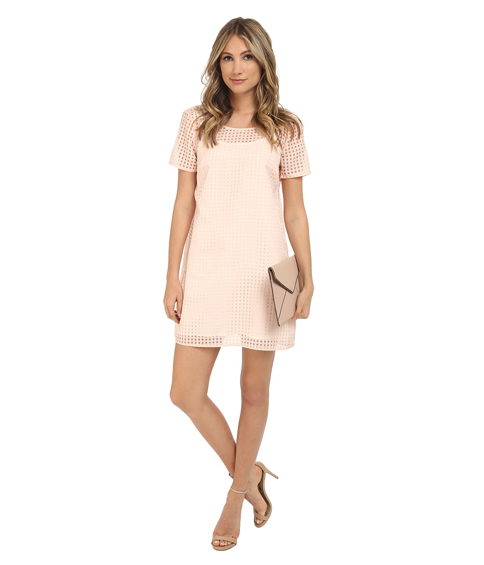 Jack by BB Dakota - Hendricks Gingham Organza Shift Dress and Slip (Light Peach) Women's Dress