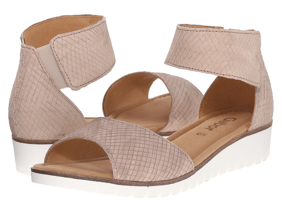 Gabor - Gabor 44.570 (Silk Cobra Nubuk) Women's Wedge Shoes