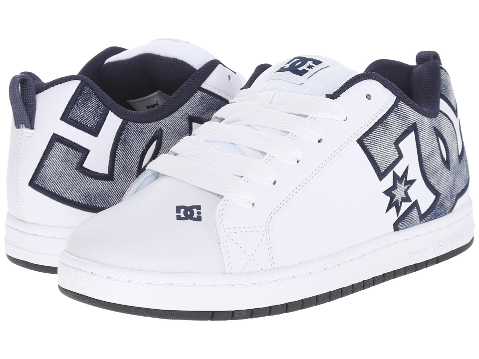 DC - Court Graffik SE (Denim) Men's Skate Shoes