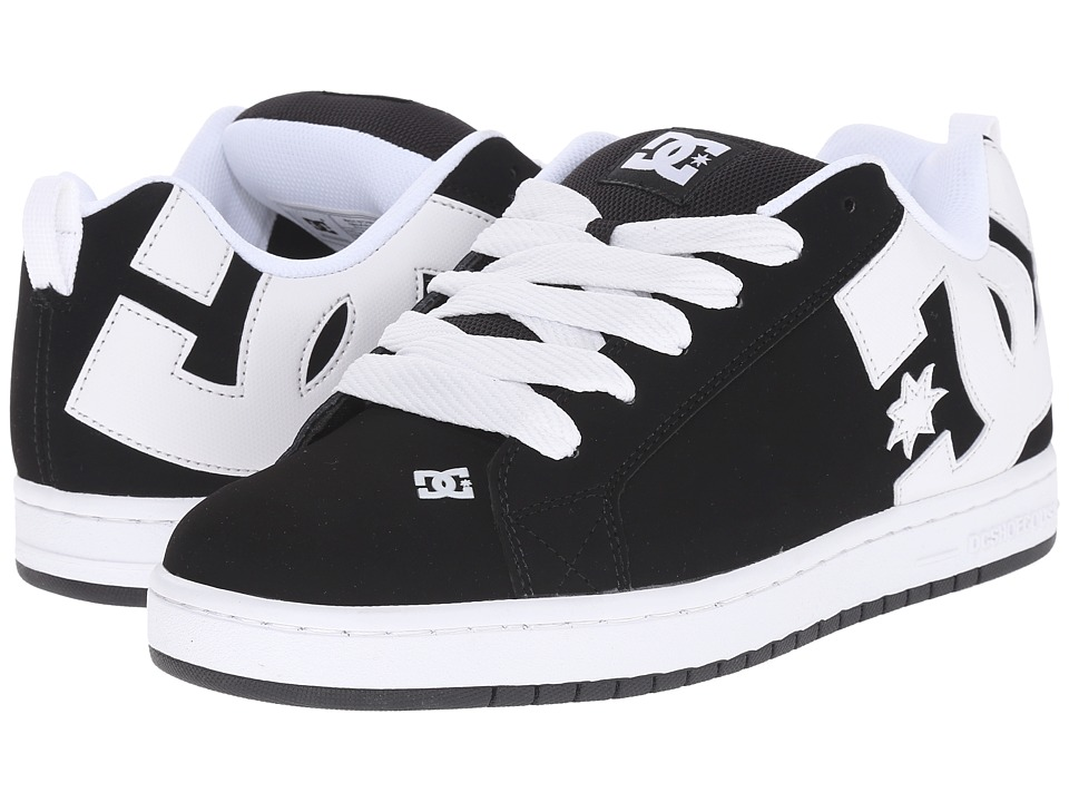 DC - Court Graffik (Black/White/Black) Men's Skate Shoes