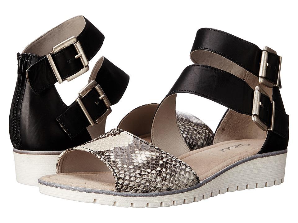 Gabor - Gabor 44.572 (Natur Nappa Toskana/Ambra Anaconda) Women's Dress Sandals