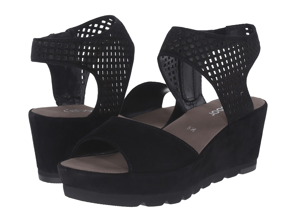 Gabor - Gabor 45.741 (Schwarz Samtchevreau) Women's Sandals