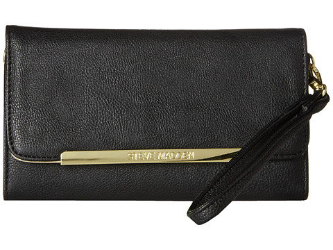 Steve Madden - Logo Bar Wallet (Black) Wallet Handbags