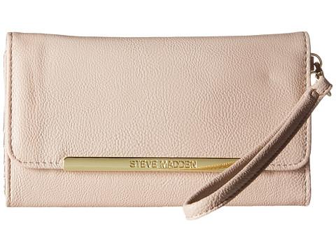 Steve Madden - Logo Bar Wallet (Blush) Wallet Handbags