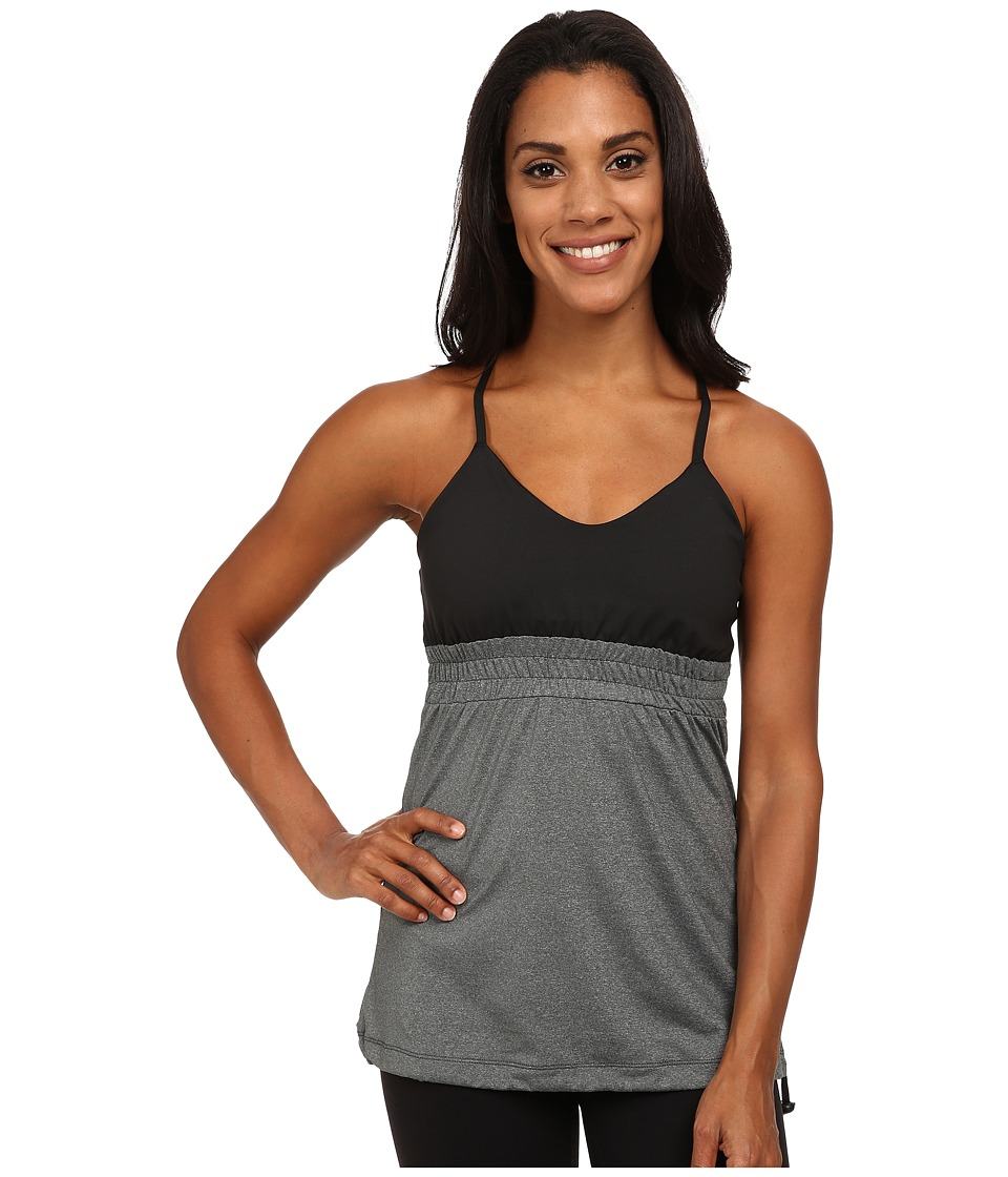 Skirt Sports - Vixen Tank (Black/Shadow Heather) Women's Sleeveless