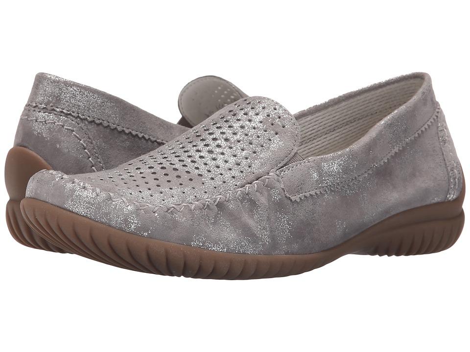 Gabor - Gabor 46.094 (Grau Caruso Metallic) Women's Flat Shoes