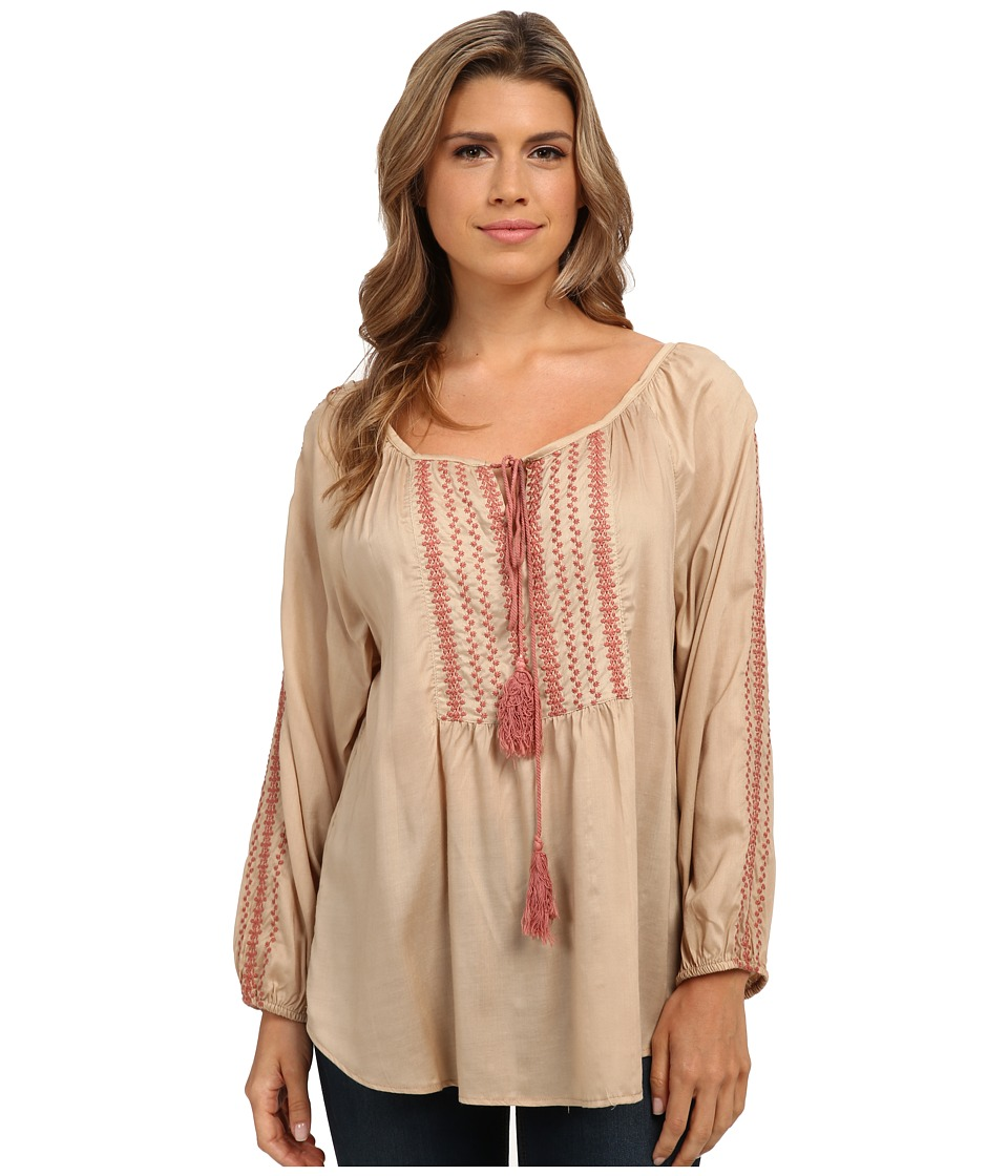 Image of Angie - Long Sleeve Cardigan Sweater (Tan) Women's Sweater