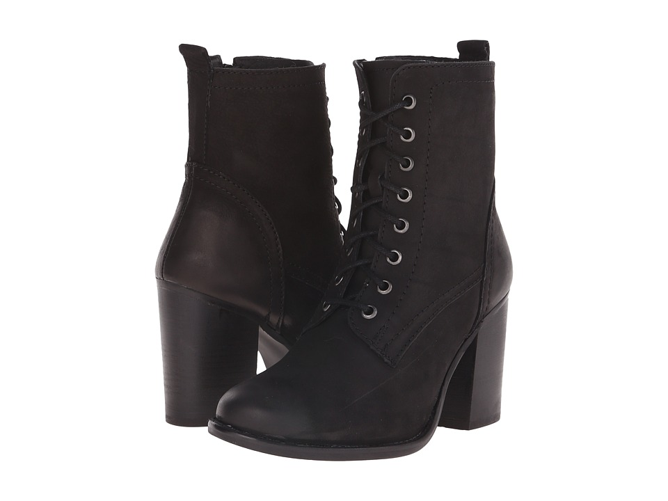 Steve Madden - Lauuren (Black Nubuck) Women's Dress Lace-up Boots