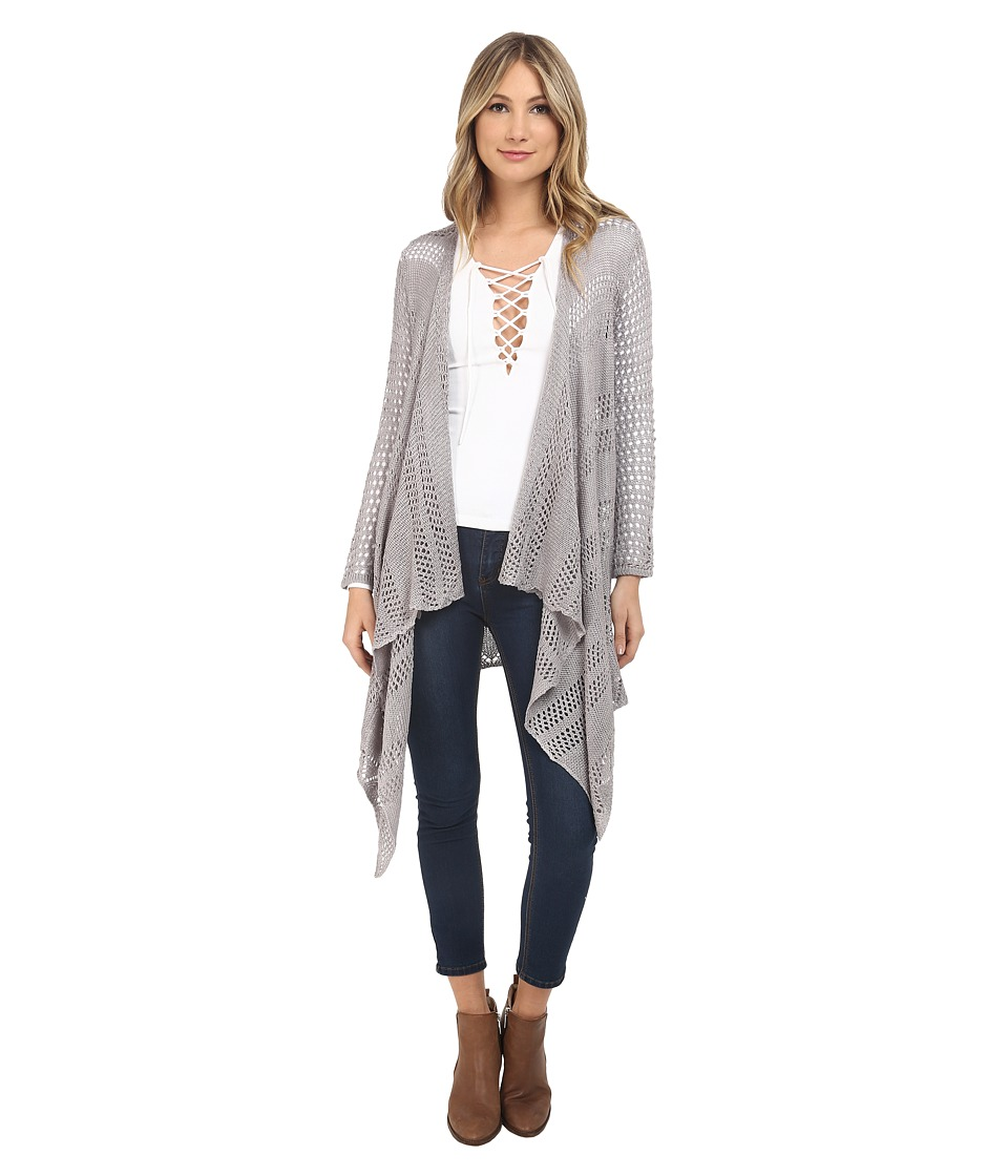Jack by BB Dakota - Dawkins Acrylic Drop Needle Long Cardigan (Storm Grey) Women's Sweater