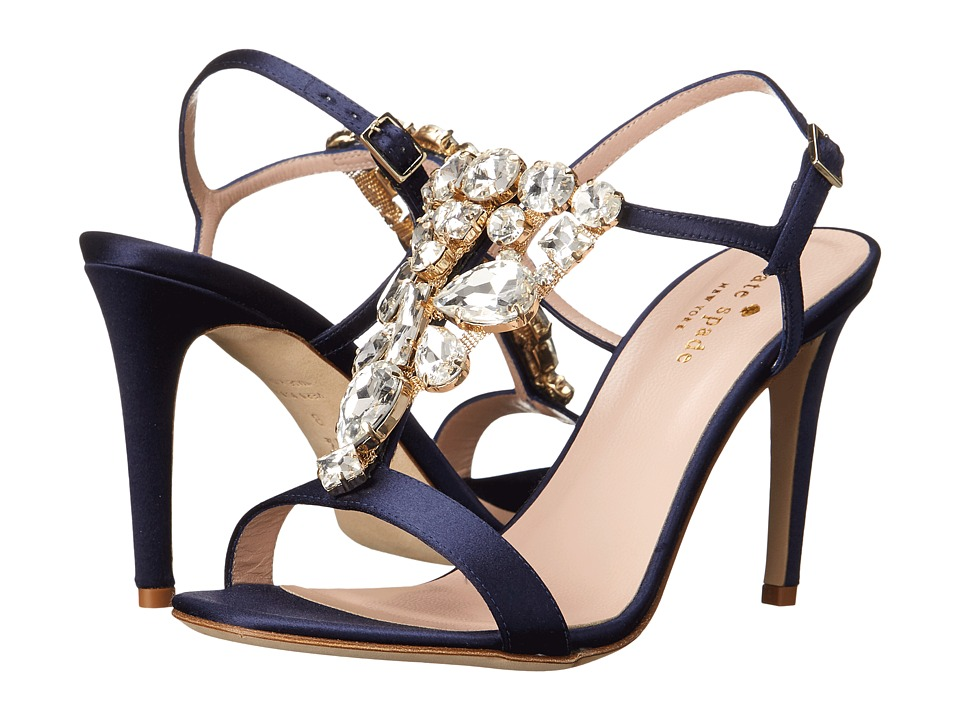Kate Spade New York - Ignacia (Navy Satin) Women's Shoes