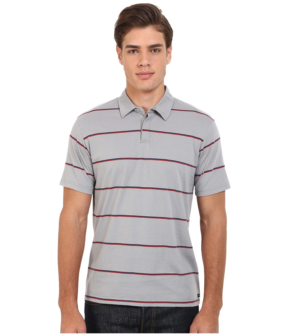 RVCA - Sure Thing Stripe Polo (Monument) Men's Short Sleeve Knit