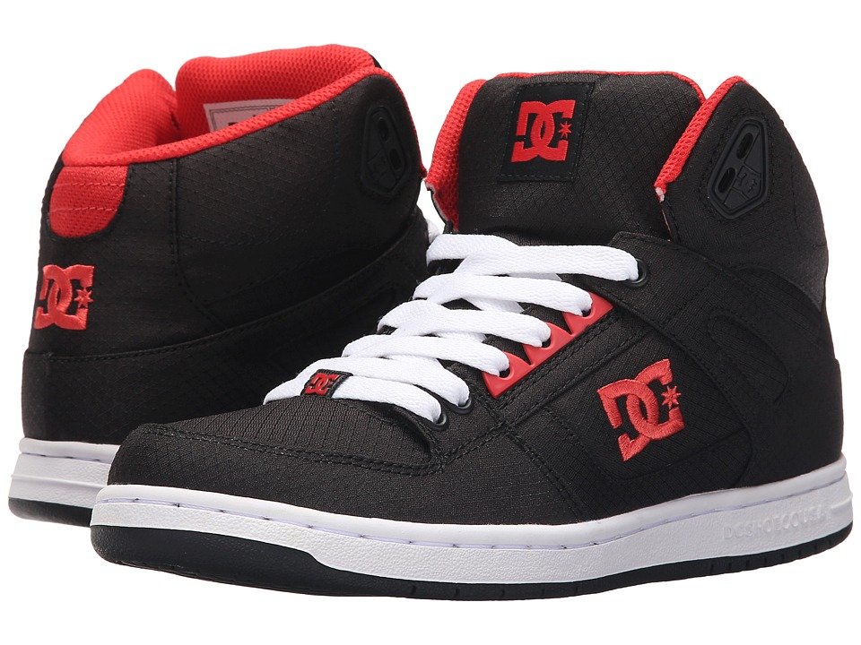 DC - Rebound High TX (Black/Poppy Red) Women