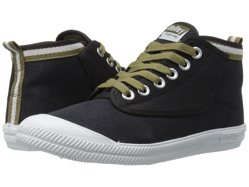 Volley Australia - High Leap Canvas (Black/Moss) Athletic Shoes