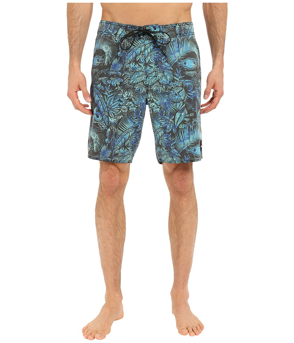 RVCA - Tropic Doom Trunks (Black) Men's Swimwear
