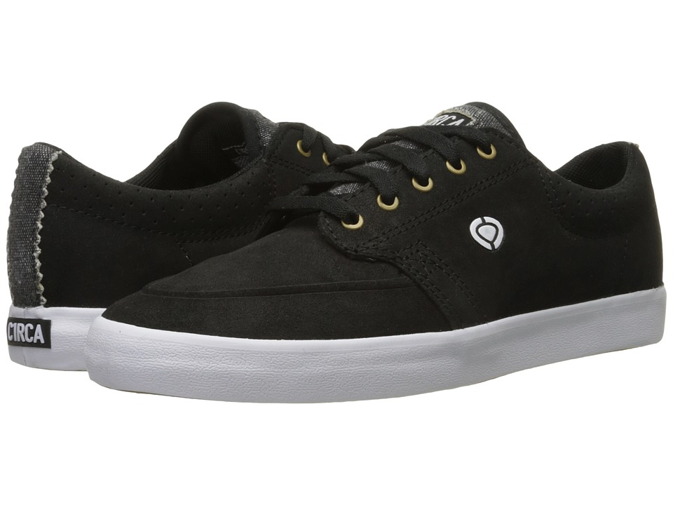 Circa - Transit (Black/White/Gum) Men's Skate Shoes