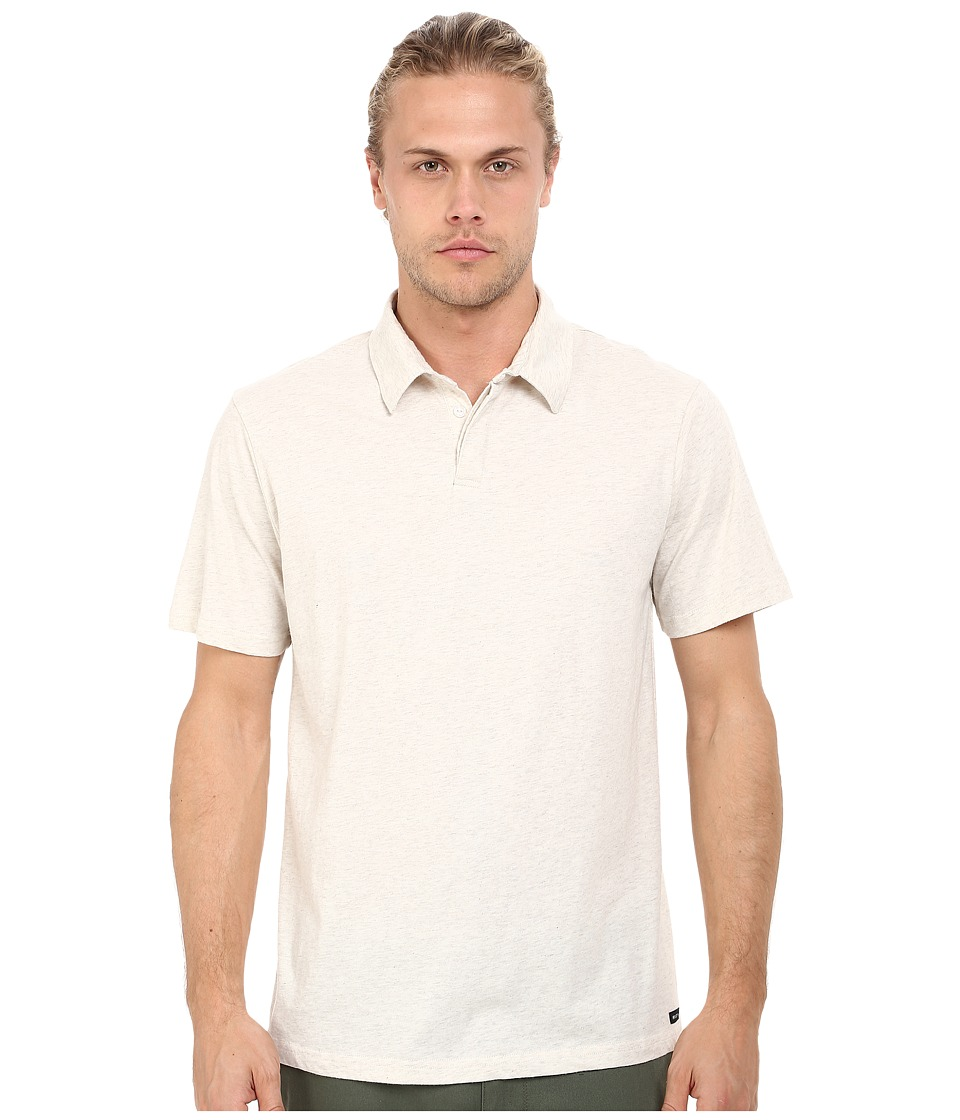 RVCA - Sure Thing II Polo (Oatmeal) Men's Short Sleeve Knit