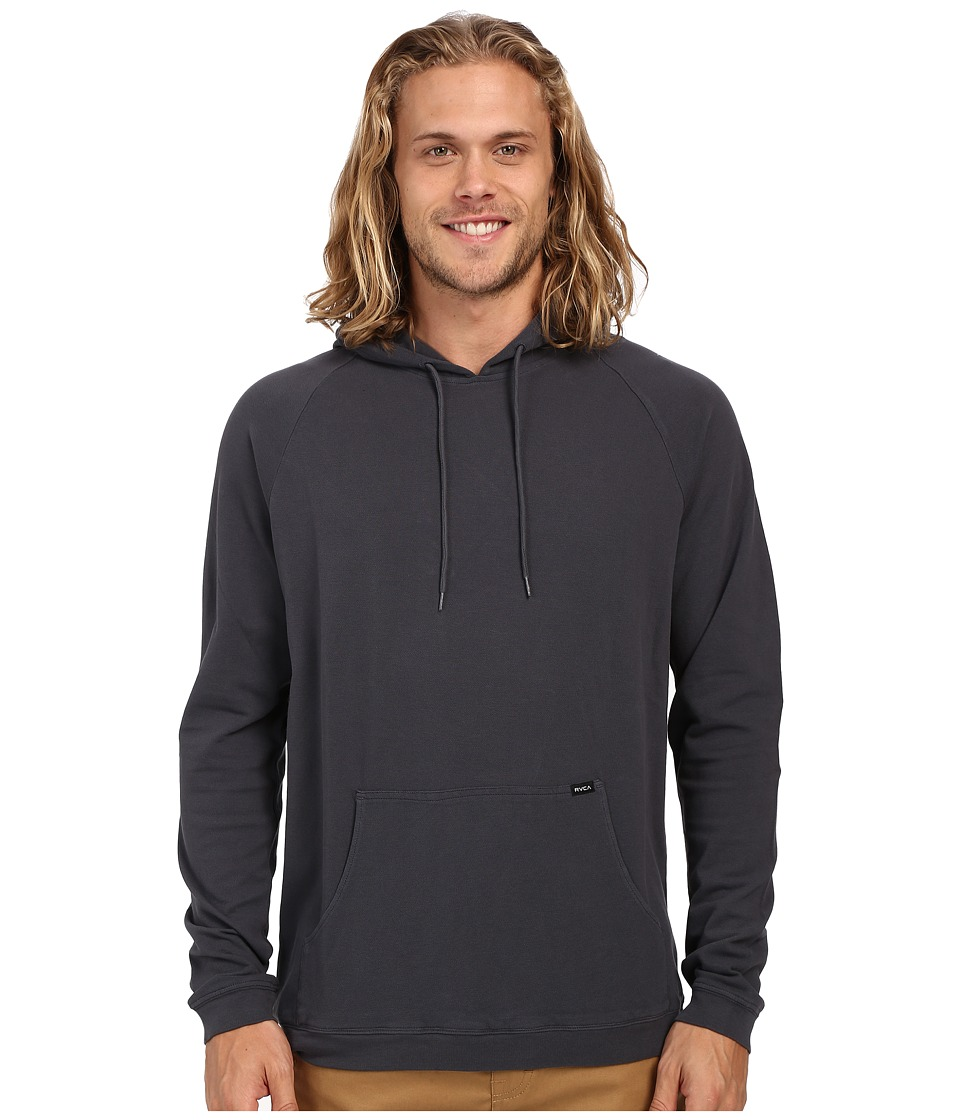 RVCA - Pick Pullover Knit (Carbon) Men's Long Sleeve Button Up