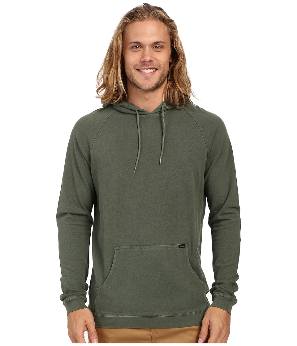 RVCA - Pick Pullover Knit (Duck Green) Men's Long Sleeve Button Up