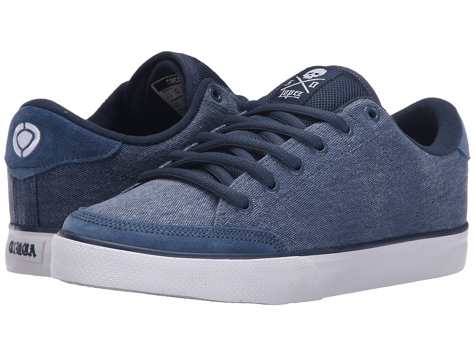 Circa - Lopez 50 (Dark Denim/White) Men's Skate Shoes