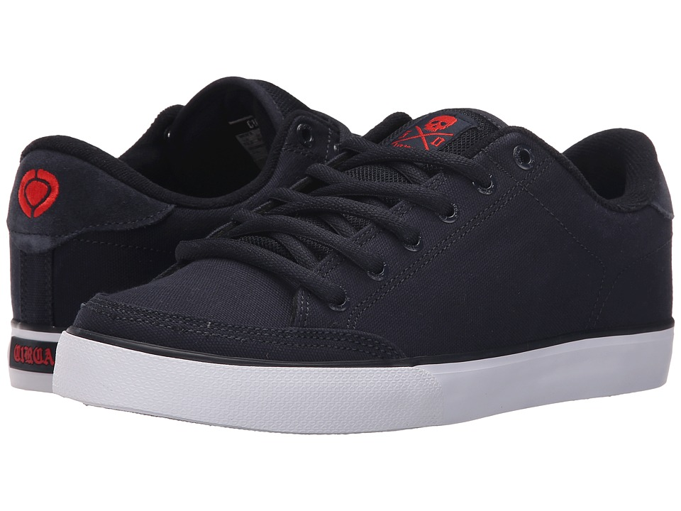Circa - Lopez 50 (Dress Blues/Red) Men's Skate Shoes