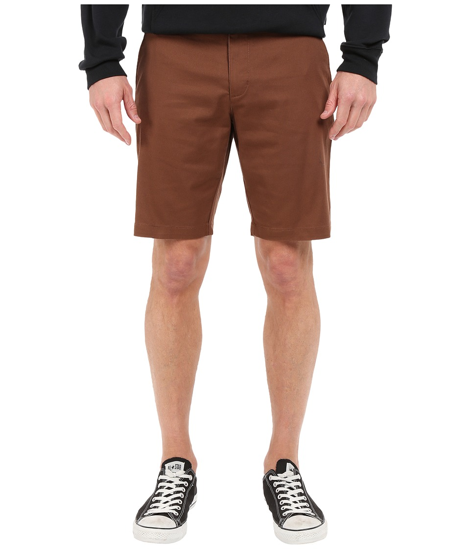 RVCA - The Week-End Stretch Shorts (Cocoa) Men's Shorts