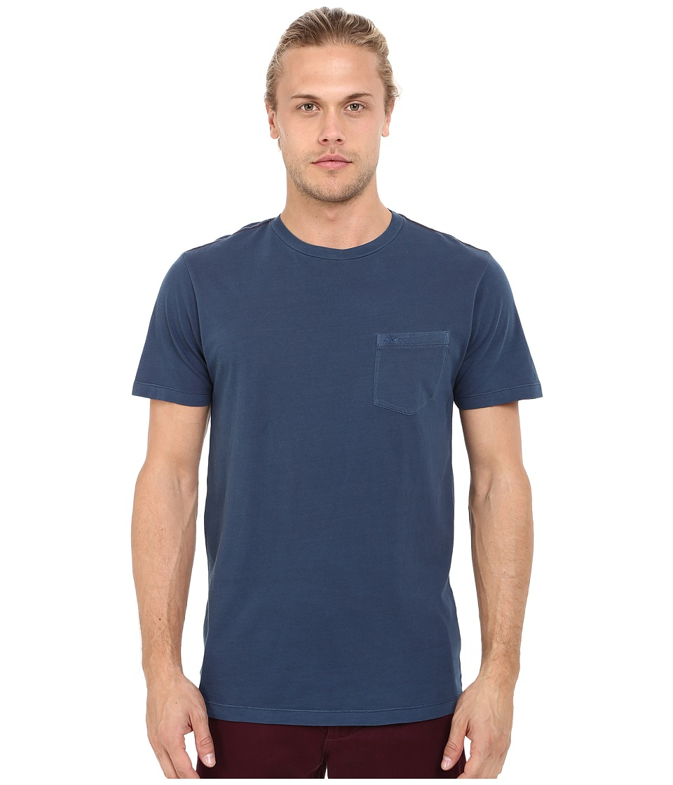RVCA - PTC2 Pigment Knit (Neptune Blue) Men's T Shirt