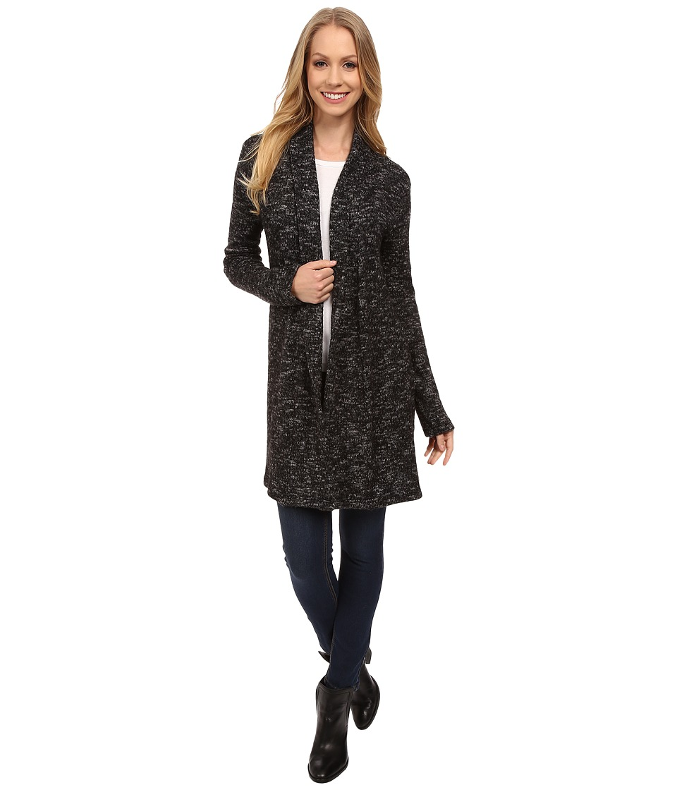 Dylan by True Grit - Long Lodge Cardigan (Marled Black) Women's Sweater