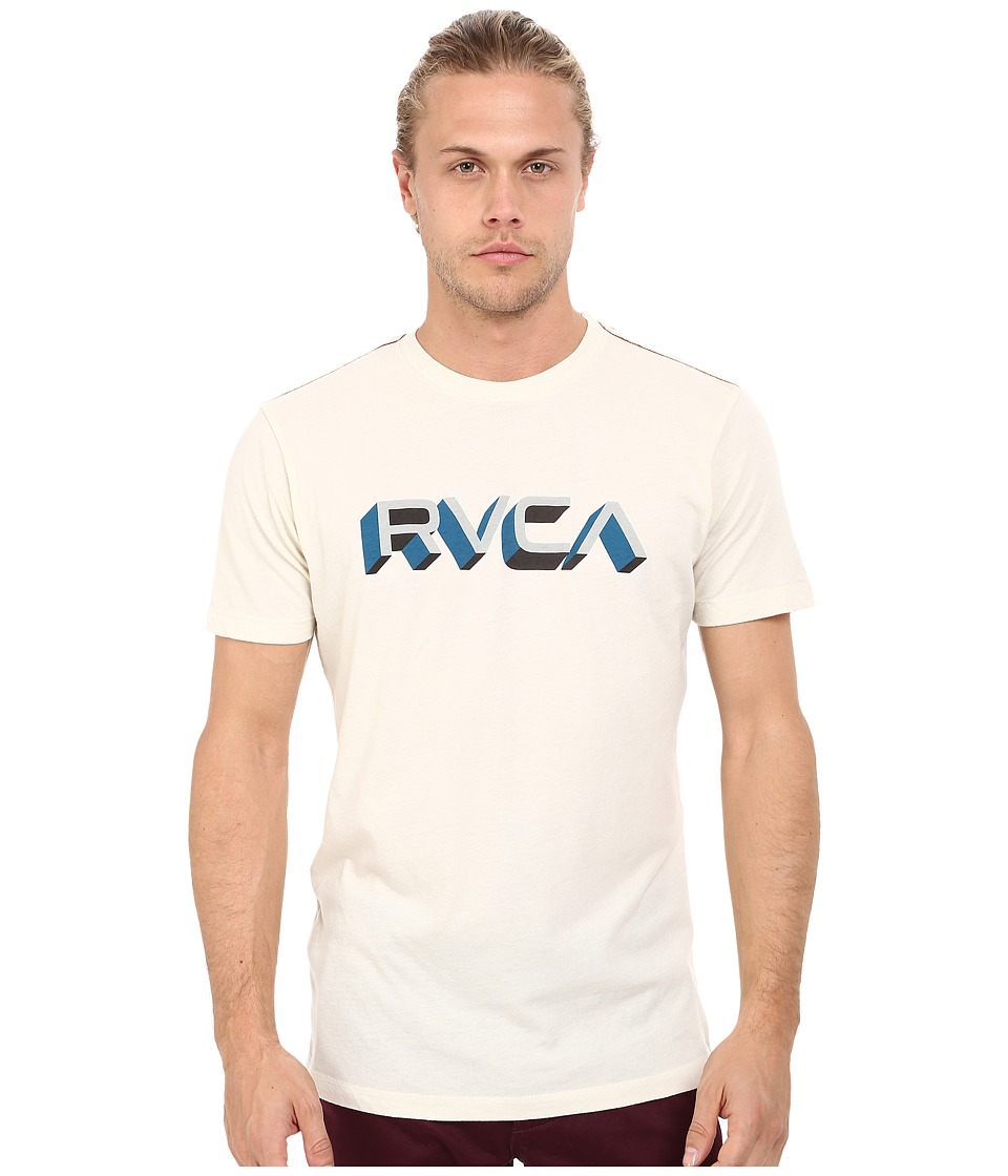 RVCA - Third Dimension Tee (Almond Tea) Men