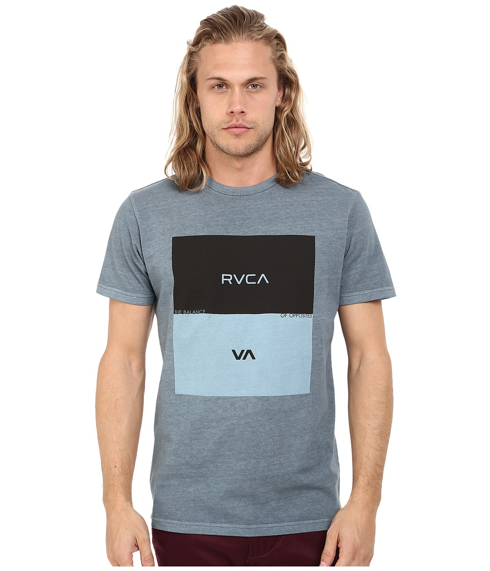 RVCA - Opposites Box Tee (Stormy Blue) Men