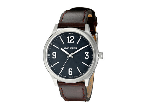 Rip Curl - Flyer II Leather Watch (Navy) Watches
