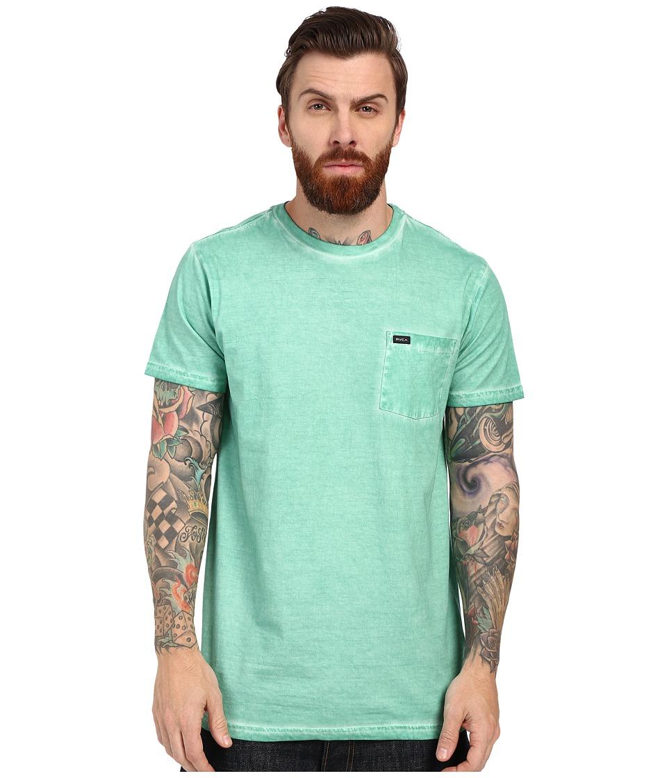 RVCA - Cold Call Short Sleeve Knit (Dusty Jade) Men's Short Sleeve Pullover