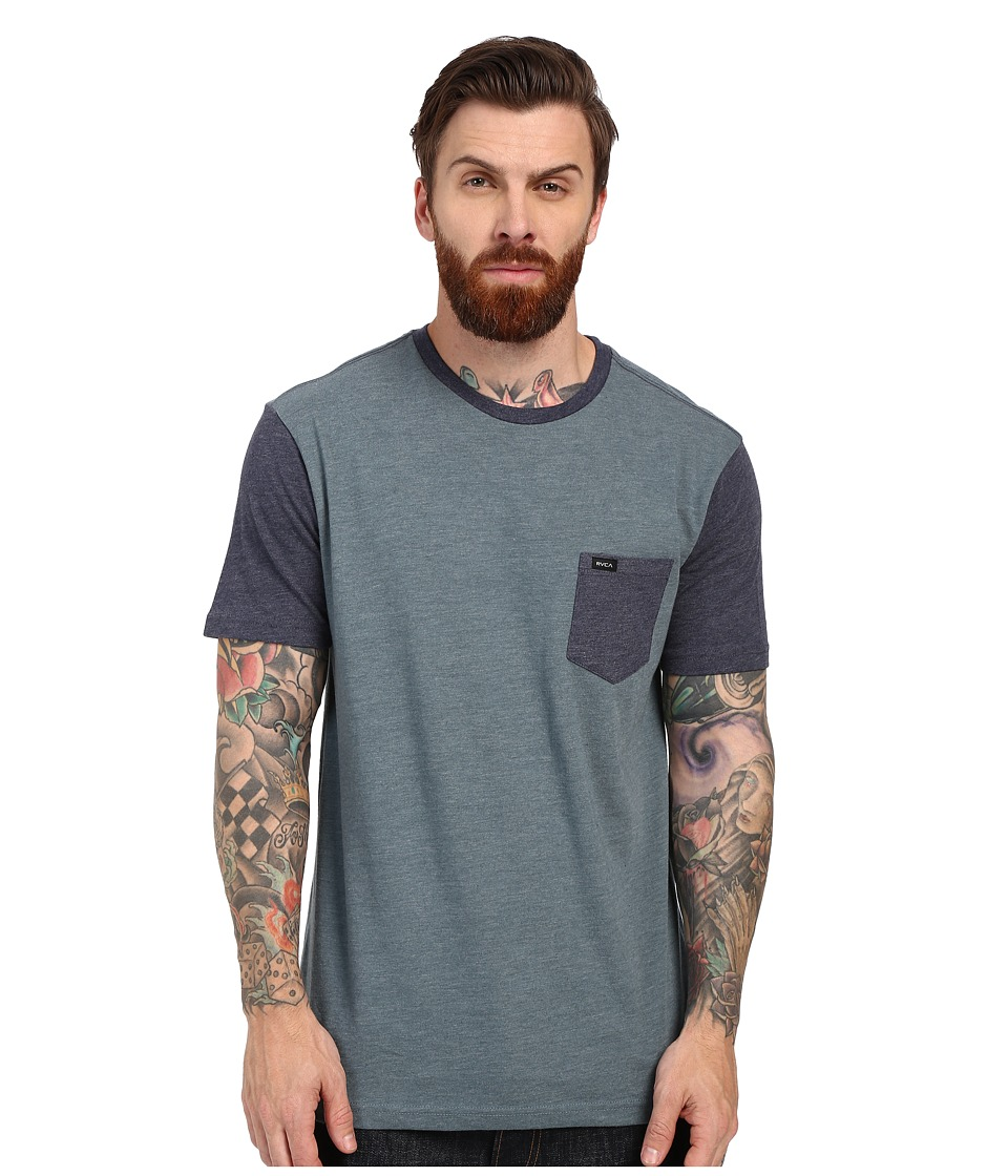 RVCA - Change Up Knit (Stormy Blue) Men's Short Sleeve Pullover