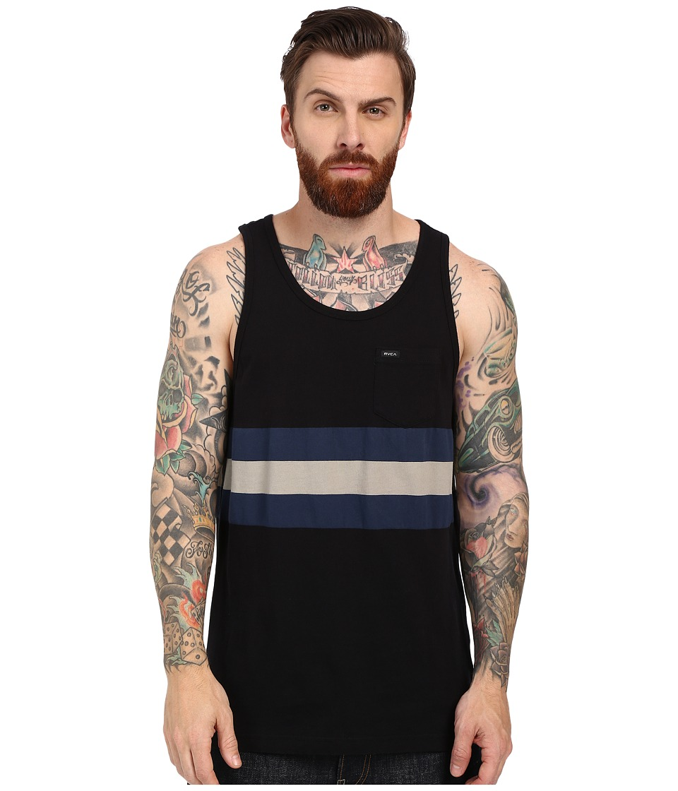 RVCA - Barlow II Tank Top (Black) Men's Sleeveless
