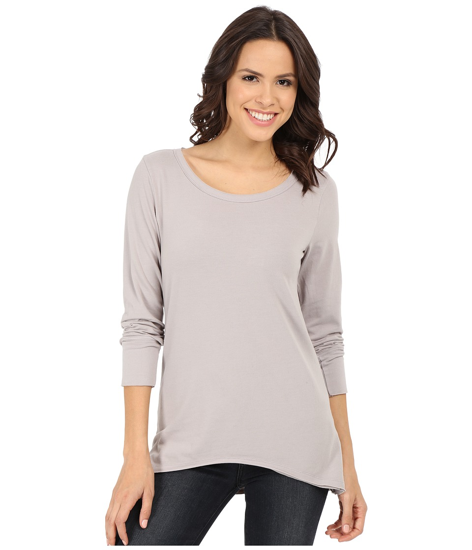 Dylan by True Grit - Sueded Knit Solid Long Sleeve Rock Tee (Soft Heather) Women's T Shirt