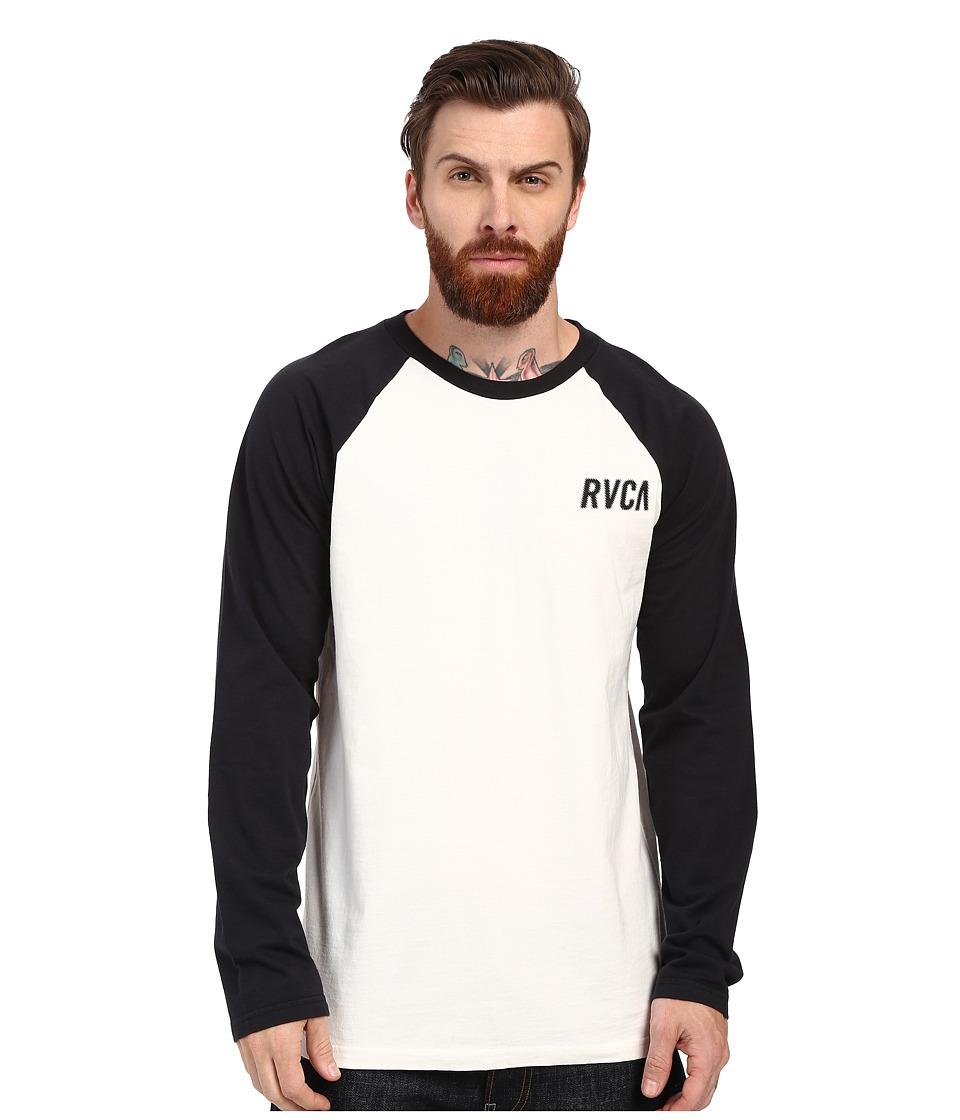 RVCA - Outfield Raglan (Vintage White) Men's Clothing